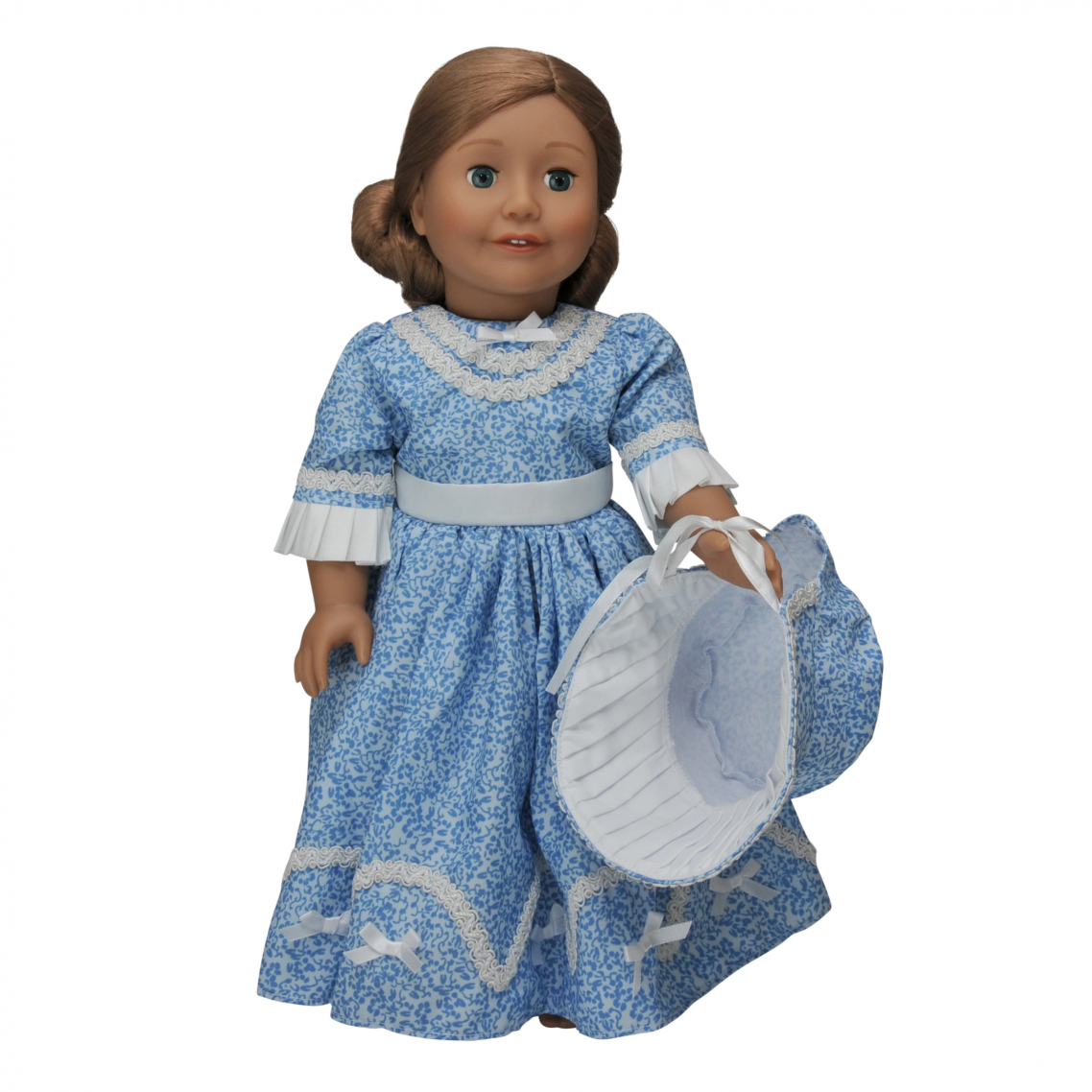 Treasured Dolls Light Skin With Curly Light Brown Hair And